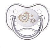 Пустышка круглая силиконовая, 0-6 Newborn baby, Canpol Babies, белый