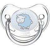 Пустышка круглая силиконовая, 6-18 Transparent, Canpol Babies, овечка