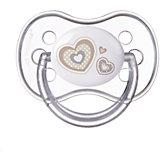 Пустышка симметричная силиконовая, 0-6 Newborn baby, Canpol Babies, белый