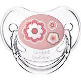 Пустышка симметричная силиконовая, 6-18 Newborn baby, Canpol Babies, розовый