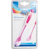 Ложка с длинной ручкой 4+, Canpol Babies, розовый