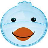 Тарелка с разделением Animals Птичка, 9+, Canpol Babies, голубой