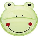 Тарелка с разделением Animals Лягушонок, 9+, Canpol Babies, зеленый
