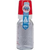 Бутылочка стеклянная с сил. соской, 120 мл. 3+, Canpol Babies, красный