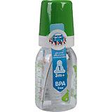 Бутылочка тритановая (BPA 0%) с сил. соской, 120 мл. 3+, Canpol Babies, зеленый