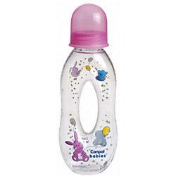 Бутылочка тритановая с отверстием, с сил. носиком, 250 мл. 6+, Canpol Babies, розовый