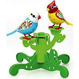 Две птички с деревом, голубая и жёлтая, DigiBirds