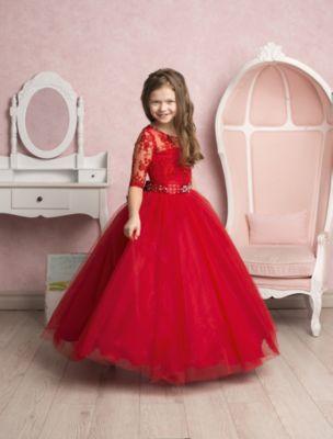 Платье нарядное Престиж - красный