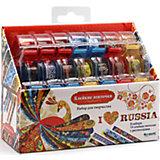 """""""Я люблю Россию"""" Большой набор для творчества с клейкими ленточками."""