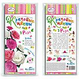 """Креповые цветы своими руками """"Роза"""" 3 цвета в ассортименте"""