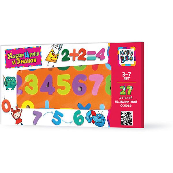 Набор цифр и знаков магнитные, 27 деталей