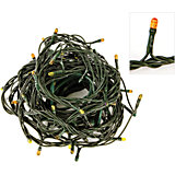 Электрогирлянда 140 миниламп, желтое свечение, зеленый провод, 8 режимов