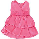 Одежда для кукол: розовое платье, атласное, JUNFA