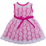 Одежда для кукол: розовое платье с гипюром, JUNFA