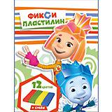 """Пластилин """"Фиксики"""" 12 цветов, 240 г"""