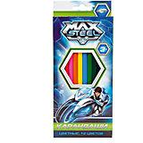 Карандаши цветные 12 цветов, Max Steel