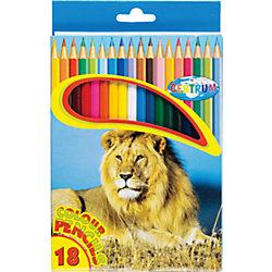 Длинные цветные карандаши, 18 цветов