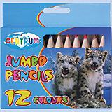 Цветные карандаши Jumbo, 12 цветов