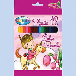 """Короткие цветные карандаши """"Единорог"""" 12 цветов"""