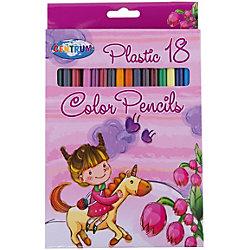 """Длинные цветные карандаши """"Единорог"""", 18 цветов"""