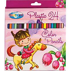 """Цветные карандаши """"Единорог"""", 24 цвета"""