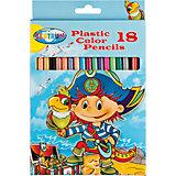 """Цветные карандаши """"Пираты"""", 18 цветов"""