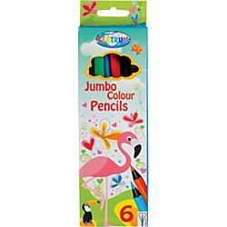 """Цветные карандаши JUMBO """"Жираф"""", 6 цветов"""