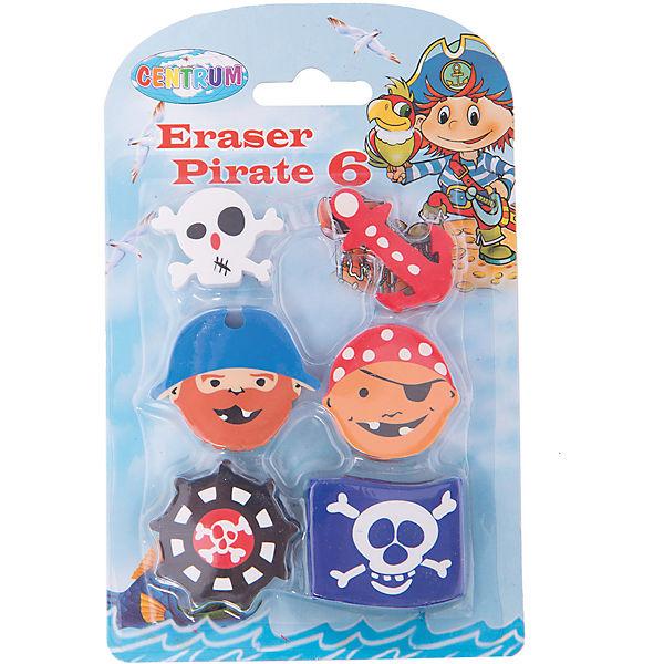 """Ластики """"Пираты"""", 6 штук (каучук)"""