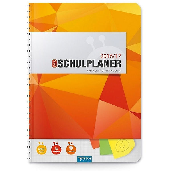 Schulplaner 2016/2017 Orange