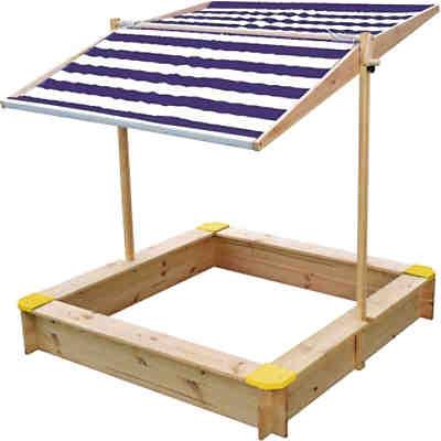 sandkasten mit kurbeldach ca 118 x 118 cm beluga mytoys. Black Bedroom Furniture Sets. Home Design Ideas