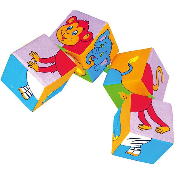 """Кубики """"Собери картинку - животные Африки"""", Мякиши"""