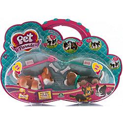 Фигурки собачек в комплекте с косточками и поводком, Pet Club Parade