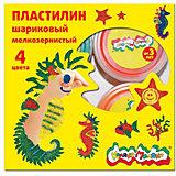 Шариковый пластилин 4 цвета