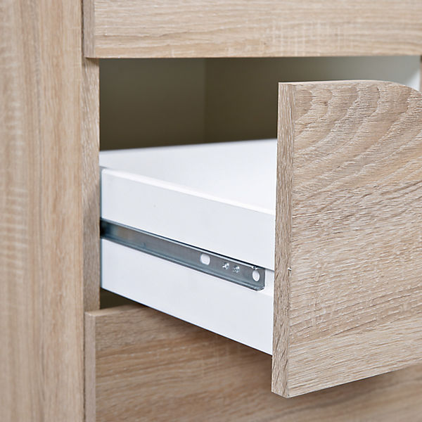kommode twedt 4 schubladen sonoma eiche mytoys. Black Bedroom Furniture Sets. Home Design Ideas