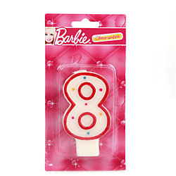 """Свеча-цифра """"8"""", Barbie"""