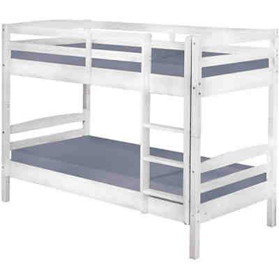 etagenbett tolky kiefer massiv wei 90x190 cm mytoys. Black Bedroom Furniture Sets. Home Design Ideas