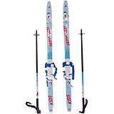 Детский комплект (синие лыжи KIDS,  черные палки, крепления), Соболь