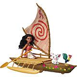 Кукла Моана и лодка