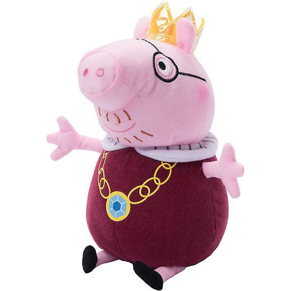 """Мягкая игрушка """"Папа-Свин король"""", 30 см, Peppa Pig"""