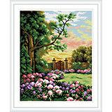 """Алмазная мозаика по номерам """"Калитка в саду"""" 40*50 см (на подрамнике)"""