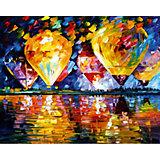 """Алмазная мозаика по номерам """"Воздушные шары"""" 40*50 см, с прозрачными стразами"""