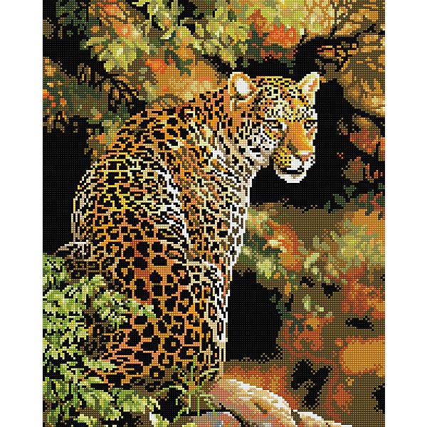 "Алмазная мозаика ""Леопард"" 40*50 см"