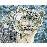 """Алмазная мозаика """"Снежный барс"""" 40*50 см"""