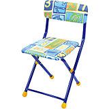 """Складной стул с мягким сиденьем """"КУ1"""" Алфавит, Ника, синий"""