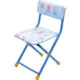 """Складной стул с мягким сиденьем """"КУ1"""" Барби, Ника, голубой"""