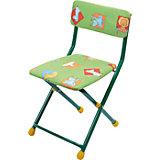 """Складной стул с мягким сиденьем """"КУ1"""" Звери, Ника, зеленый"""