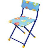 """Складной стул с мягким сиденьем """"КУ1"""" Звери, Ника, синий"""