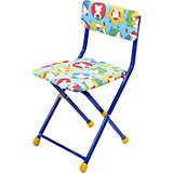 """Складной стул с мягким сиденьем """"КУ1"""" Мишки, Ника, синий"""