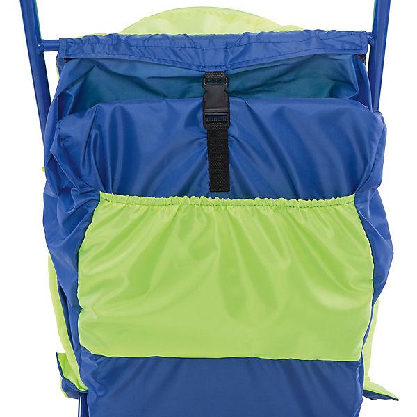 Санки-коляска Малышок 1, Galaxy, салатовый/голубой