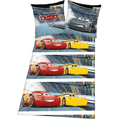 Wende kinderbettw sche cars 135 x 200 cm disney cars - Cars deckenlampe ...